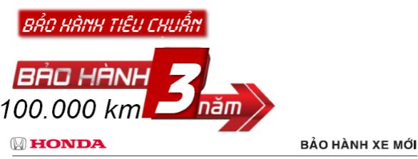 Chính sách bảo hành xe ôtô của Honda Việt Nam