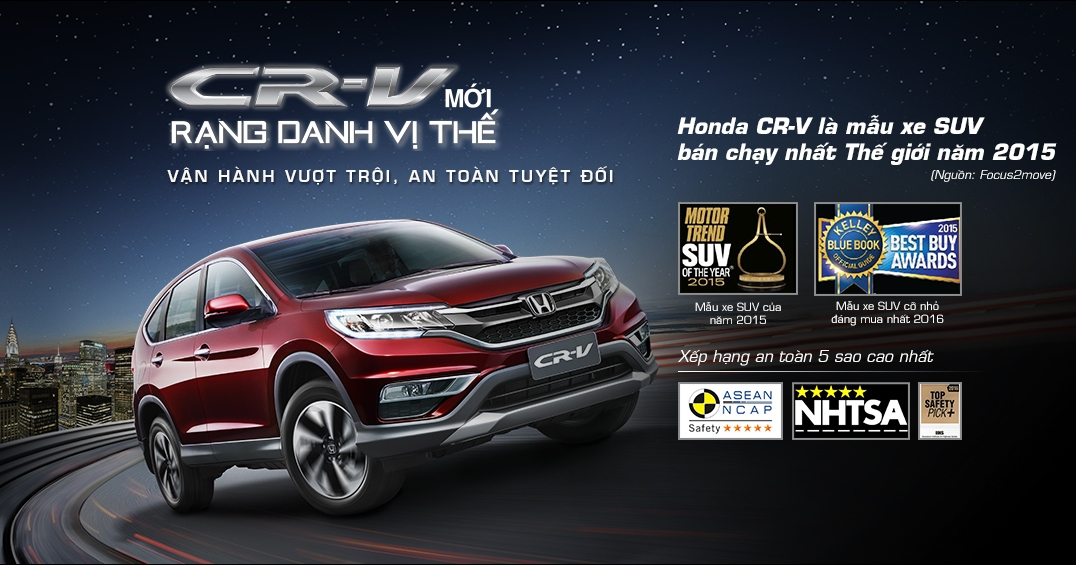 Honda CRV 2.4 Top Grade phiên bản cao cấp