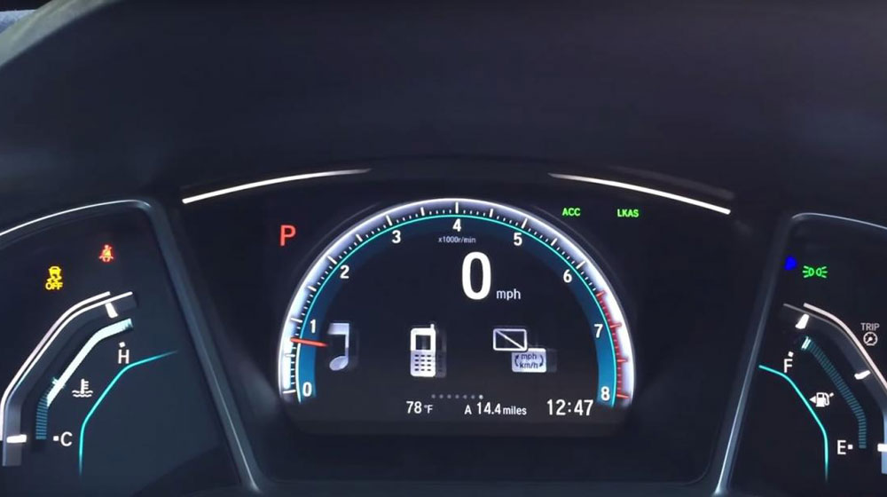 Chi tiết nội thất Honda Civic 2016