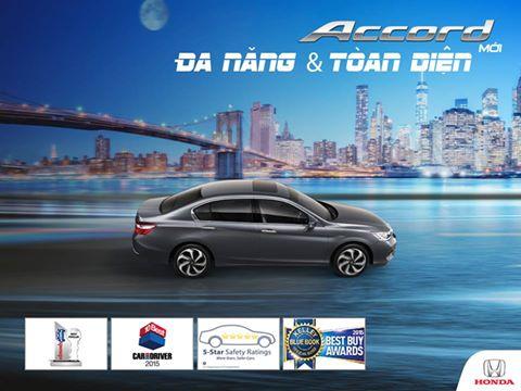 Honda Accord 2016 : Đa năng và toàn diện