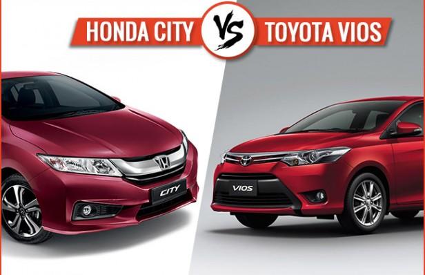 So sánh xe Honda City 2016 và xe Toyota Vios 2016