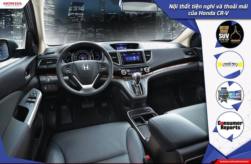 Nội thất tiện nghi và thoải mái của Honda CR-V