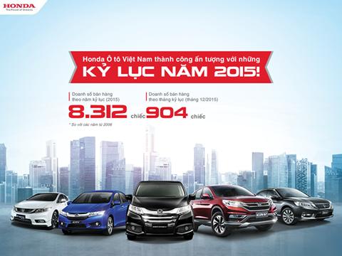 Honda Ôtô Việt Nam thành công ấn tượng với những kỷ lục năm 2015