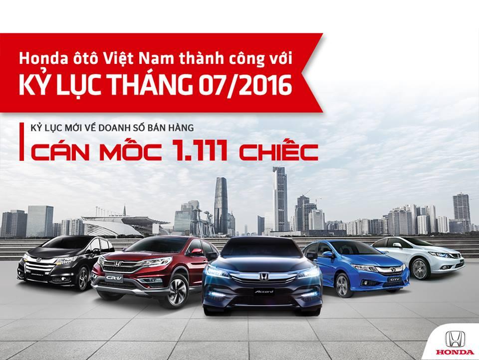 Honda Việt Nam lập kỷ lục mới về doanh số bán xe