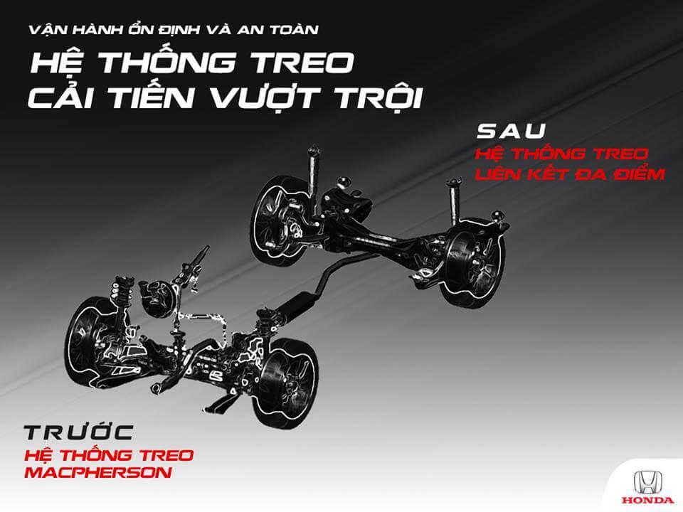 Khung gầm Honda Civic 1.5 Vtec TURBO được cải tiến toàn diện