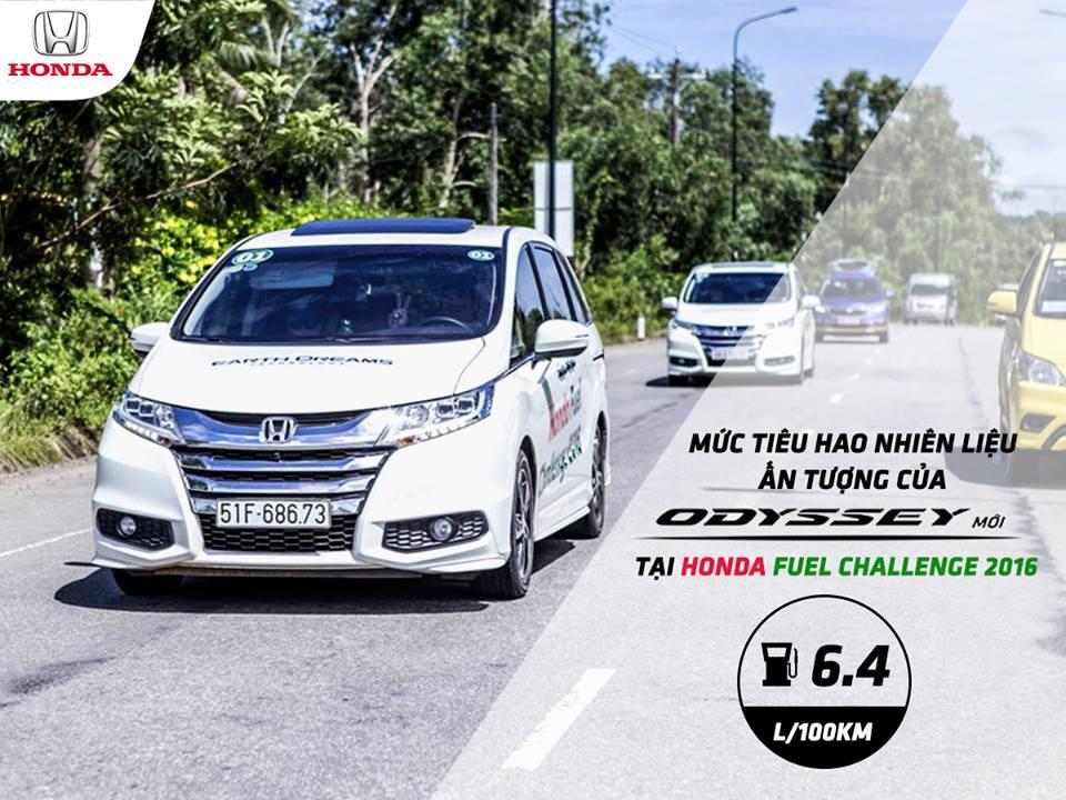 Mức tiêu hao nhiên liệu rất ấn tượng của Honda Odyssey
