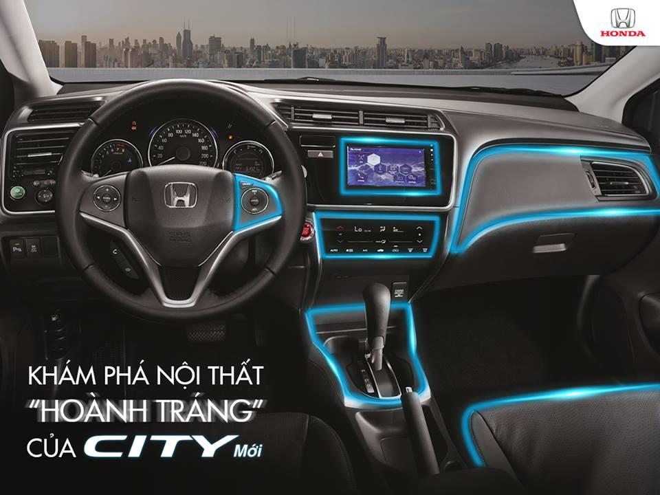 Nội thất Honda City 2017 mới