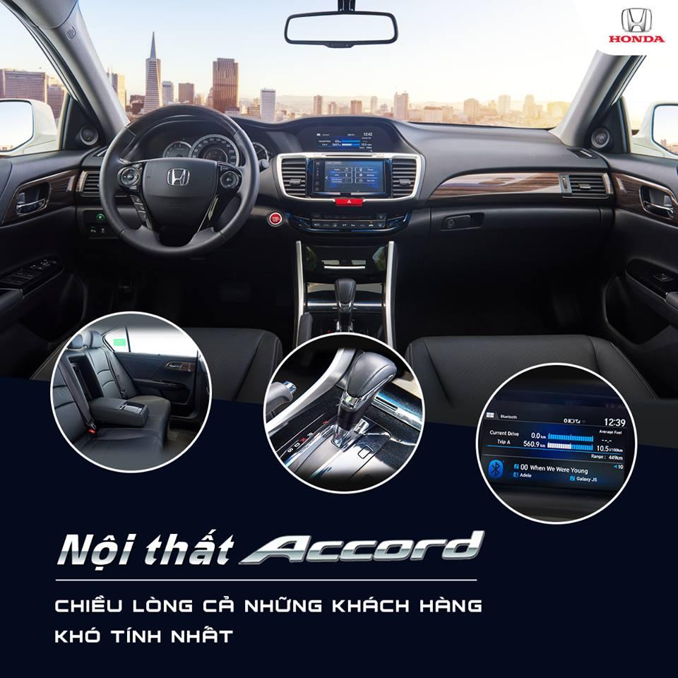 Nội thất xe Honda Accord mới